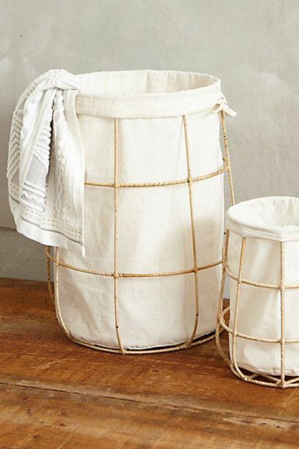 wäschekorb aus bambus gestell und stoff