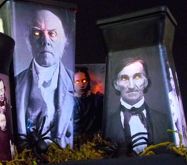 These spooky luminaries made with vintage photos and Mod Podge are the perfect Halloween decor - and you can make them in minutes!