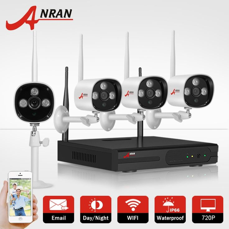 (174.98$)  Watch here - http://aie9i.worlditems.win/all/product.php?id=32737174625 - ANRAN 1TB HDD CCTV Camera System 4CH  720P H.264 Wireless NVR Video Recorder P2P 1.0MP HD Outdoor IR WIFI IP Security Camera