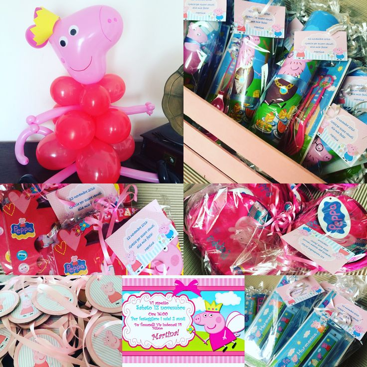 PeppaPig party party favours ideas birthday by www.babyeventimilano.com