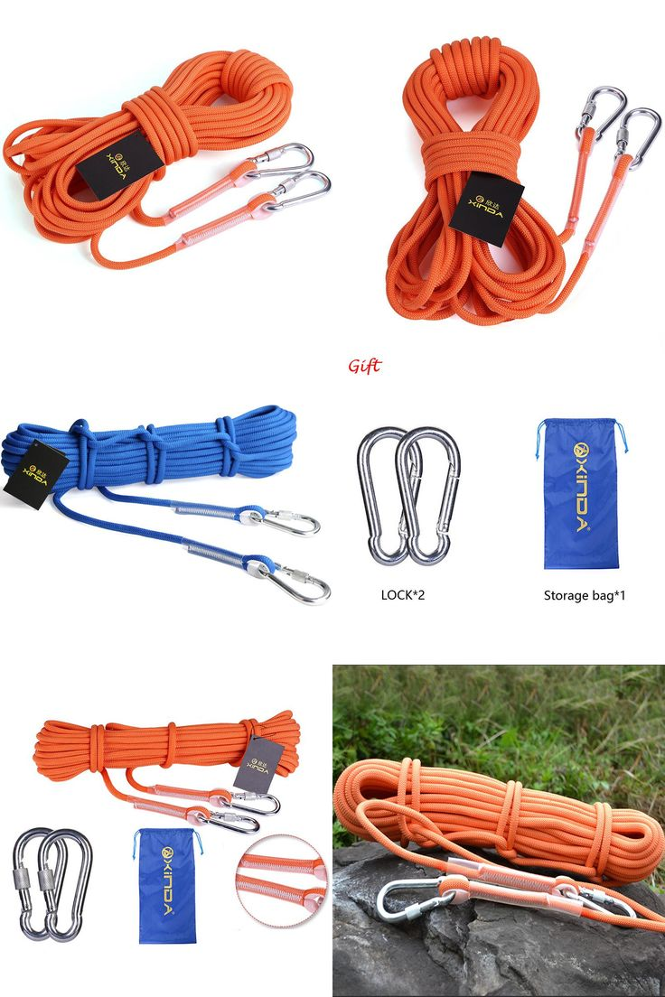 [Visit to Buy] Hot Sales 10M Outdoor Professional Climbing Rope Cord High Strength Cord Safety Diameter 9.5mm Rope Hiking Accessory #Advertisement