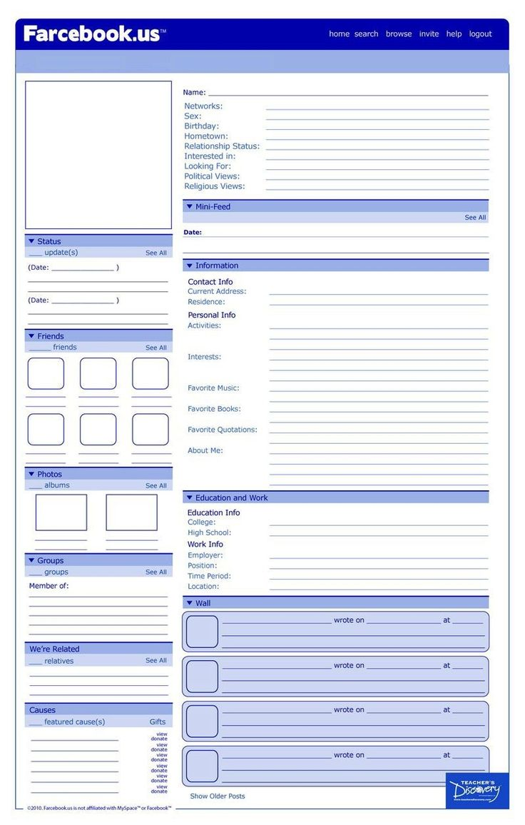 best 25 facebook profile template ideas on pinterest teachers