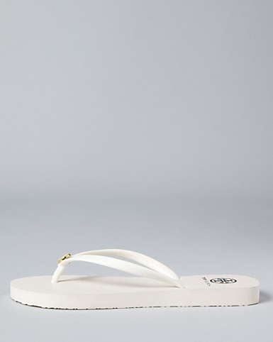 White flip flops?