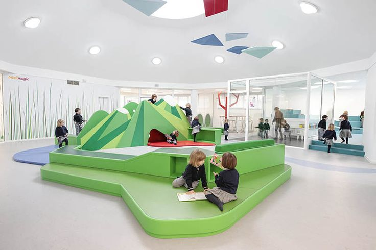 Mind-Stimulating Classroom Designs - This Kindergarten Interior is Designed with Learning Zones (GALLERY)
