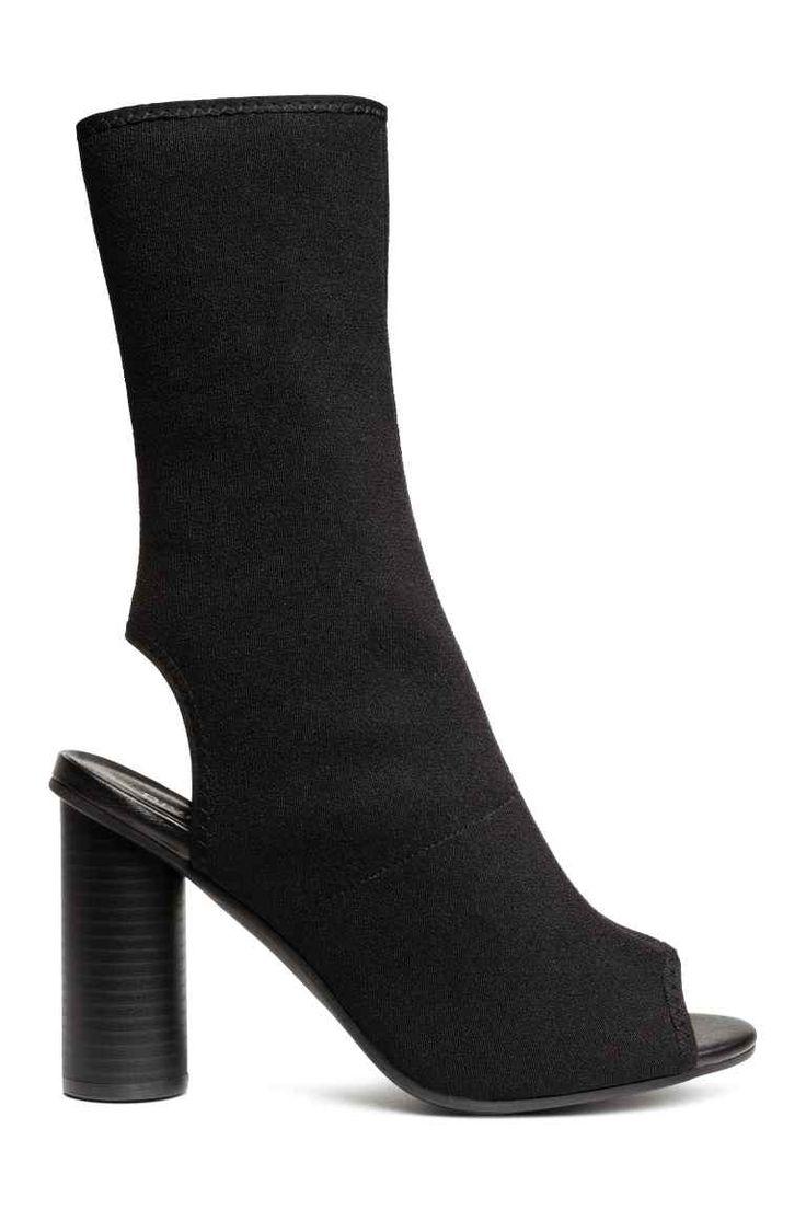 Botine înalte de jerseu - Negru - FEMEI   H&M RO 1