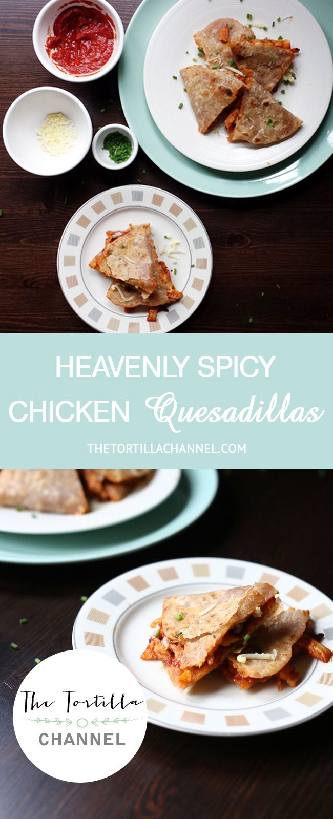 These heavenly hearty spicy chicken quesadillas are great for lunch. An easy recipe with home made flour tortillas so delicious. #recipe #quesadilla #chicken #tortilla #homemade #tasty #delicious #lunch