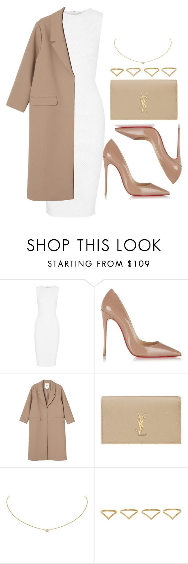 """""""Style #11586"""" by vany-alvarado ❤ liked on Polyvore featuring Victoria Beckham, Christian Louboutin, Monki, Yves Saint Laurent, Cartier and Ana Khouri"""