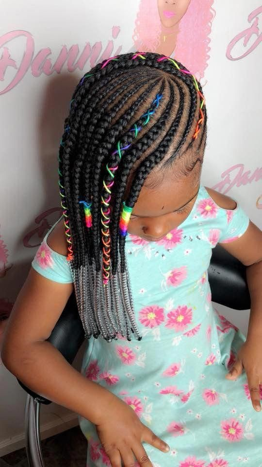 Quick And Easy Braided Hairstyles Black Braidedhairstyles Lil Girl Hairstyles Braid Styles For Girls Braids For Kids