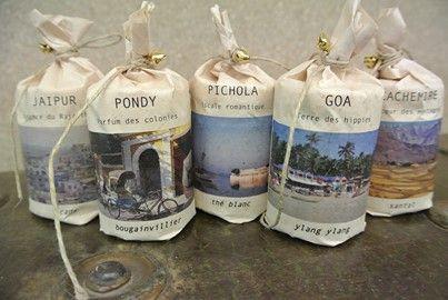 Bougies de voyage..5 parfums, 5 destinations !!