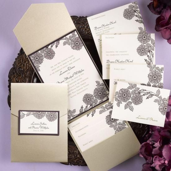 Carlson Craft Pocket Wedding Invitations: Downton Abbey Inspired Images On