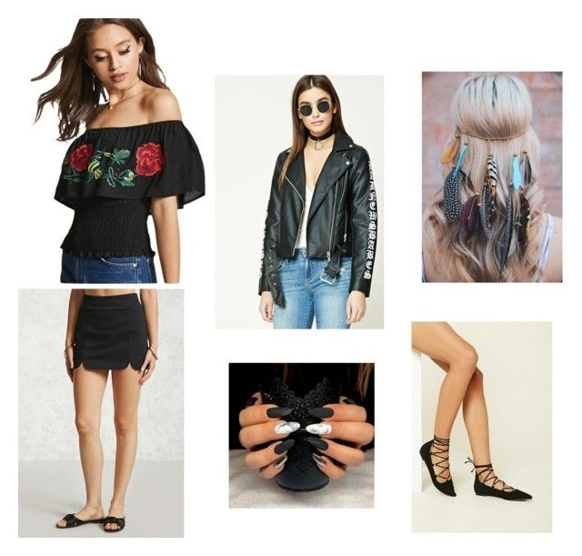 """Everything Better With Black"" by rosiepotter on Polyvore featuring Forever 21"