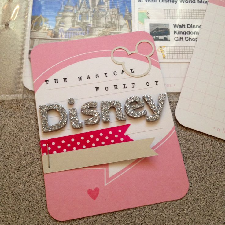 Disney project life card