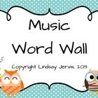 This PDF contains over 200 word wall cards for the music room. Just print, cut in half, laminate and display to build key music vocabulary.  List o...