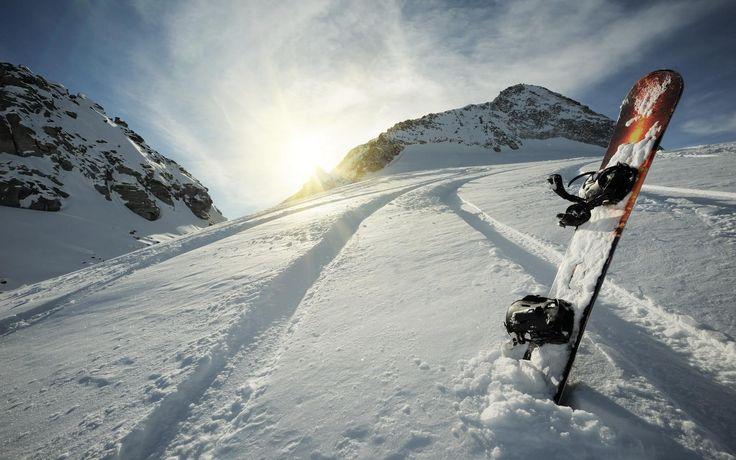 nice snowboard winter