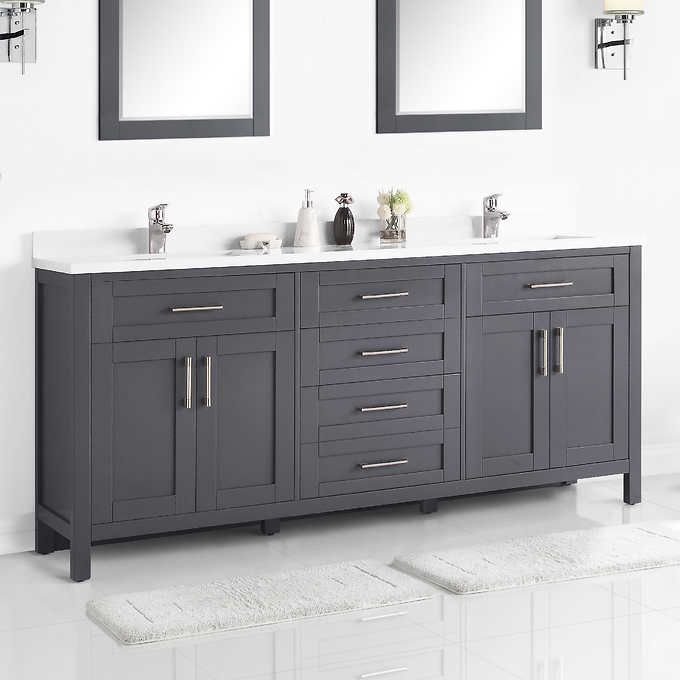 Lakeview 72 Vanity By Ove 72 Vanity Bathroom Vanity Contemporary Bathroom Designs