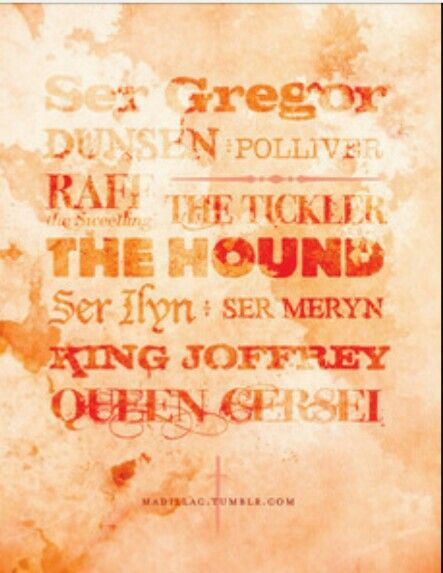 Arya Stark's kill list♥