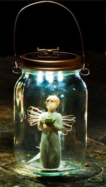 Consol Solar Jar - angel makes beautiful table decor