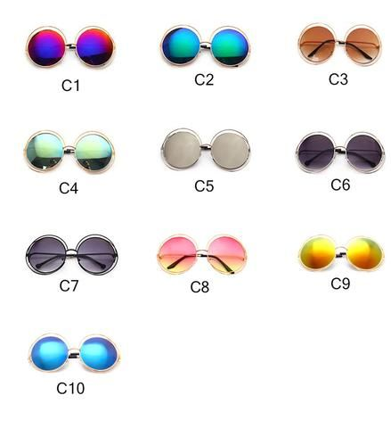 Classic Brand Of Hollow Out Great Circle Restoring Ancient Ways Women's Fashion Sunglasses Oculos DE Sol Feminino 1553
