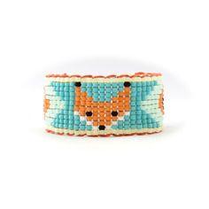Bracelet manchette renard fox orange saumon vert tendance 2014