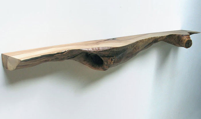 Floating wood shelf!!