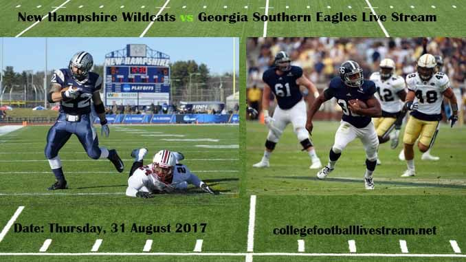 New Hampshire Wildcats vs Georgia Southern Eagles Live Stream Teams: Wildcats vs Eagles Time: 6:00 PM ET Week-2 Date: Saturday on 9 September 2017 Location: Allen E. Paulson Stadium, Statesboro, GA TV: ESPN NETWORK New Hampshire Wildcats vs Georgia Southern Eagles Live Stream Watch College...