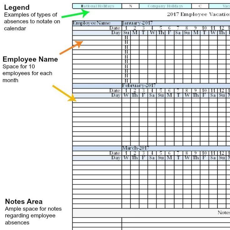 office work schedule template