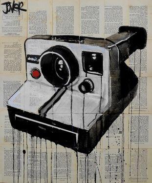 "Saatchi Online Artist Loui Jover; Drawing, ""the polaroid"" #art"