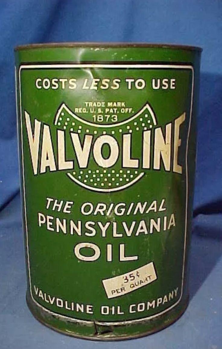 Valvoline motor oil can gasoline petrol station pinterest for Valvoline motor oil certification