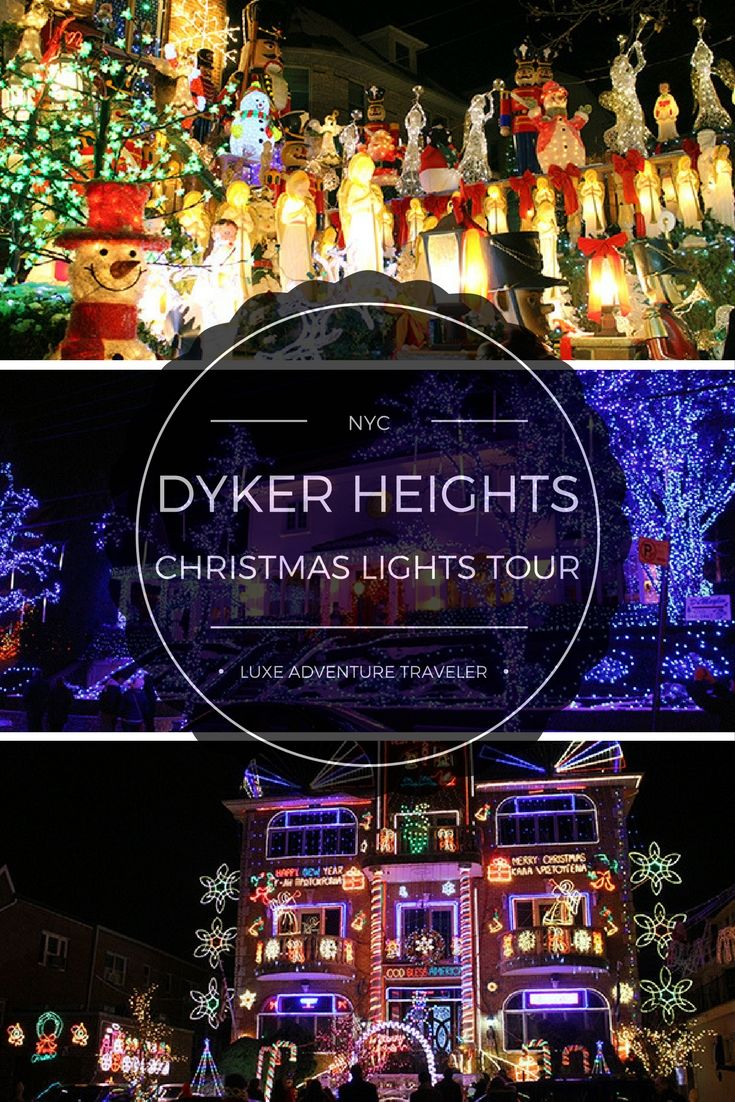 "A house that can be seen from space, winter wonderlands and a friendly neighborhood competition to ""Out Christmas"" your neighbors. It's all in Brooklyn's Dyker Heights neighborhood and you can see the best of the best on a Brooklyn Christmas Lights tour.   #NYC"