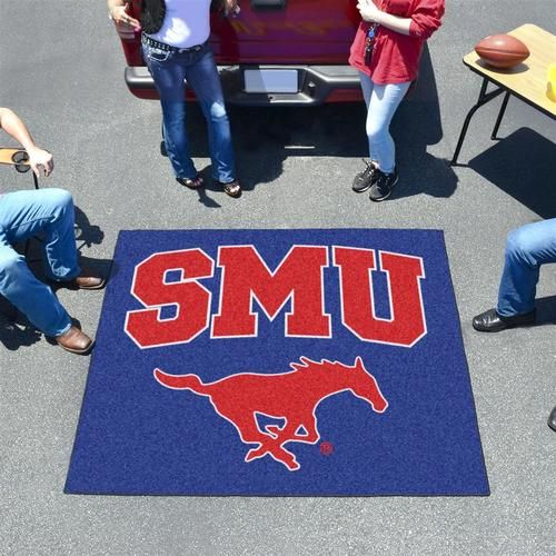 Southern Methodist University Mustangs Tailgate Area Rug 5' x 6'