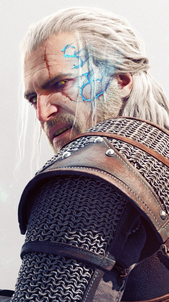 Geralt Of Rivia The Witcher Art 4k 720x1280 Wallpaper Witcher