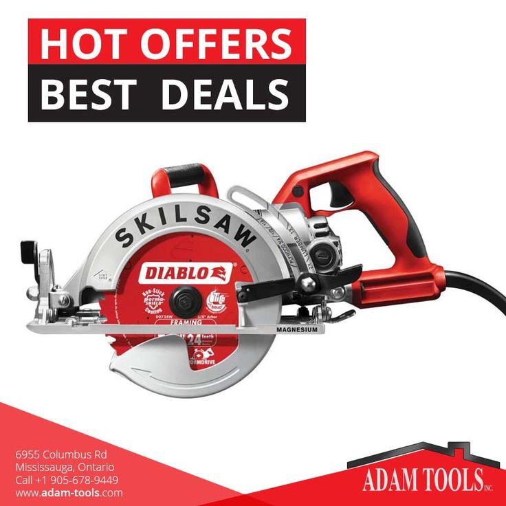 "Check out our best offer Skil - spt77wml-22 7-1/4"" lightweight skilsaw worm drive with diablo carbide blade at Adam tools inc.  Visit our website - http://www.adam-tools.com/skil-spt77wml-22-7-1-4-lightweight-skilsaw-worm-drive-with-diablo-carbide-blade.html Price: $219.00 #canada #mississuaga #power_tools #building_supplies  #skilsaw #diablo #carbideblade #spt77wml"
