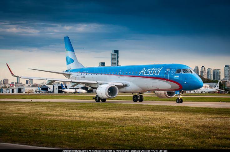 https://flic.kr/p/DL8xLx | AEP.2015_5104_awp | Austral Lineas Aereas Embraer 190AR (ERJ-190-100IGW) LV-CHR (cn 19000400)