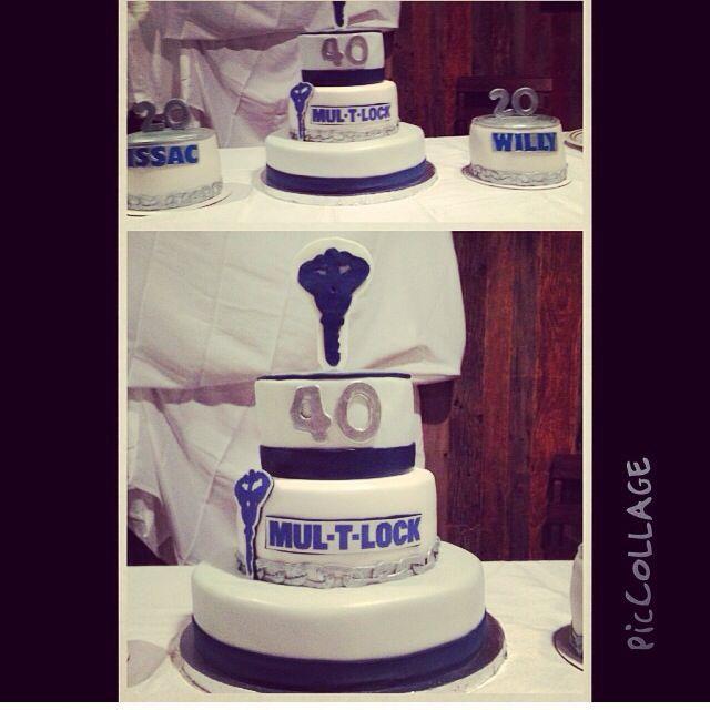Mul-t-lock 40 th anniversary cake