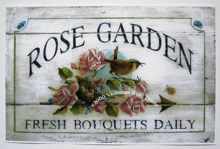 Rose Garden Wren Bird Nest Roses Bouquet Art Print Half Yard