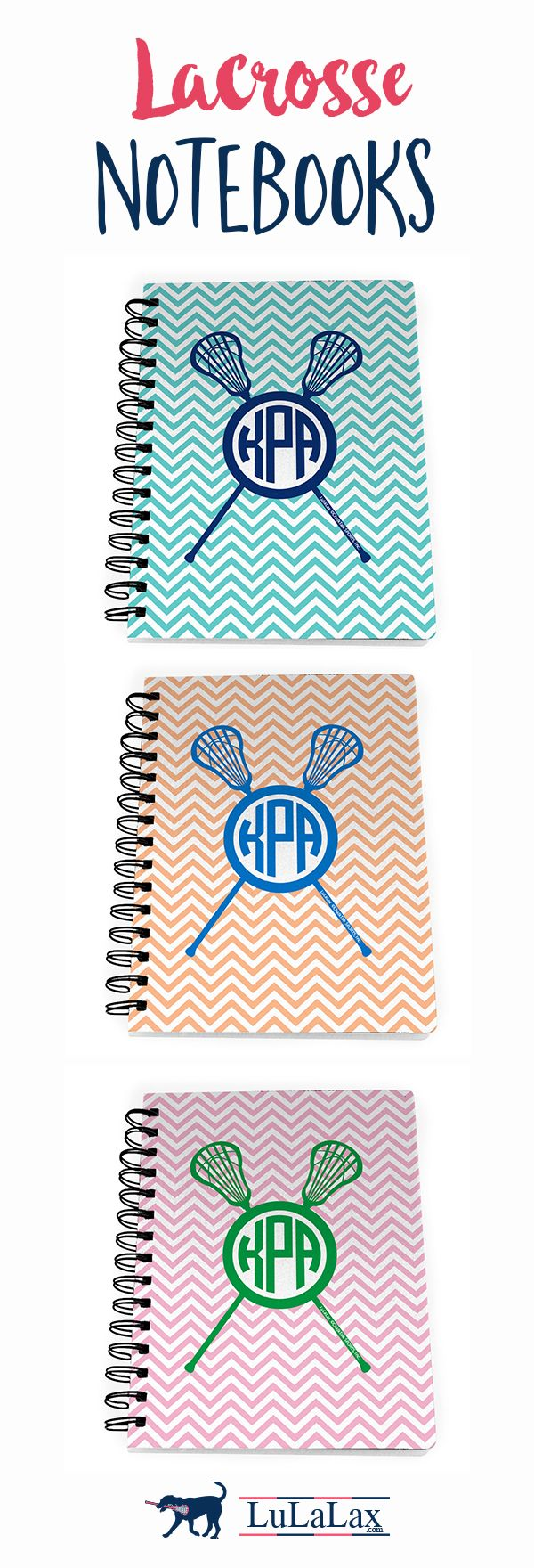 Our adorable spiral-bound #lacrosse notebooks are the perfect back to school gift for your lax girl!