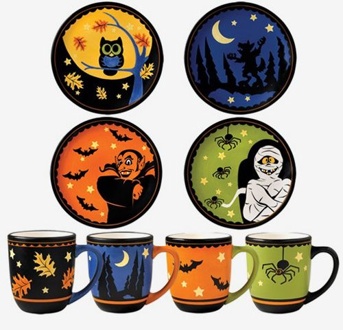 pfaltzgraff halloween mug and plate set - Halloween Plates Ceramic