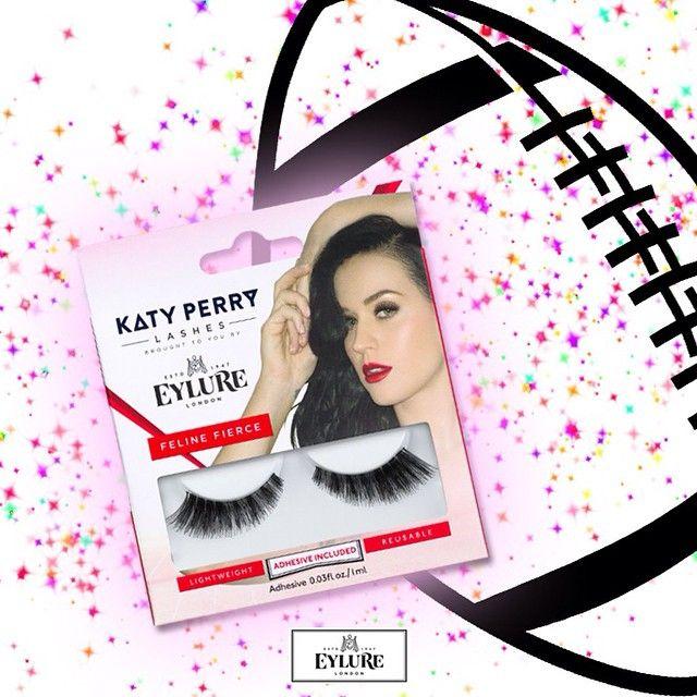 Prachtige Katy Perry wimpers die ze droeg tijdens haar optreden in de halftime show van de Superbowl finale!
