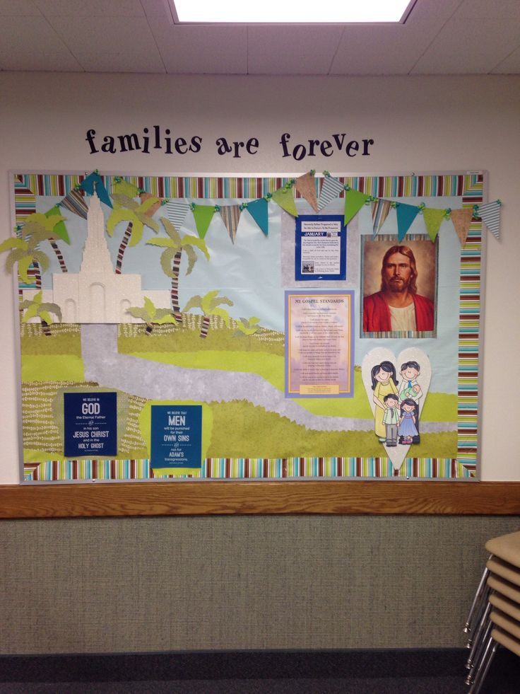 "Primary Room Bulletin Board 2014 - ""Families Are Forever ..."