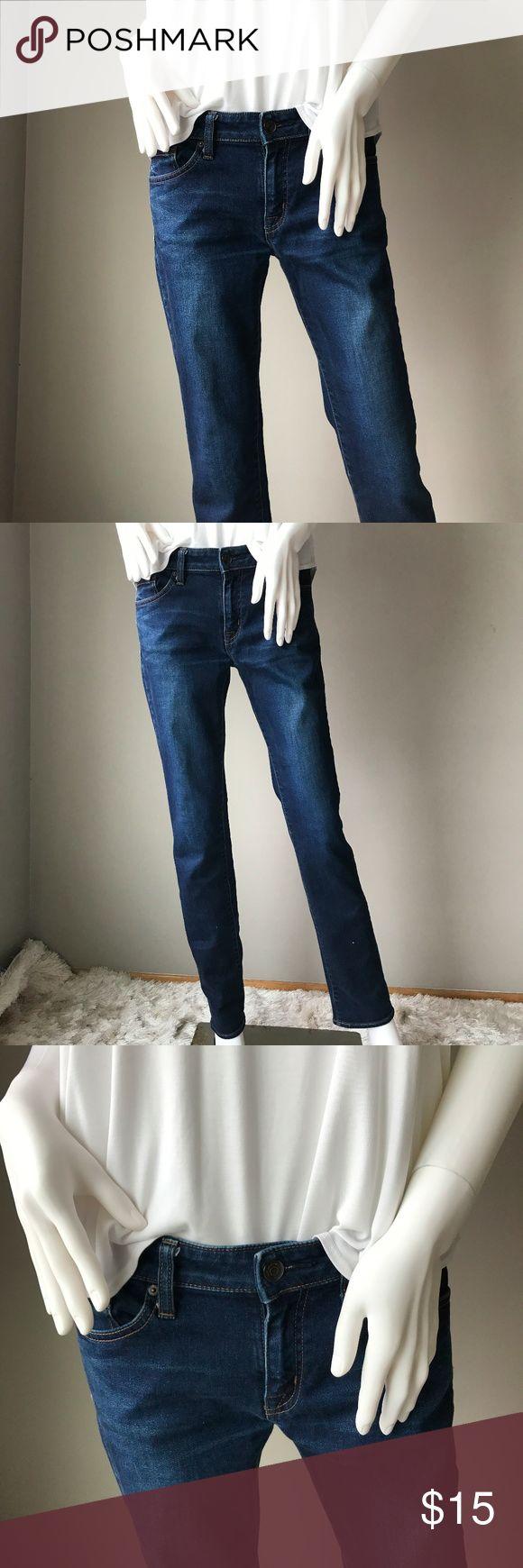 Uniqlo straight cut blue jeans Super comfortable and stylish Uniqlo straight cut blue jeans. Good condition. Outer seam 39 in inner seam 31 in. Button to crotch 10 in. Uniqlo Jeans Straight Leg
