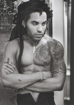 Lenny Kravitz and dreads!
