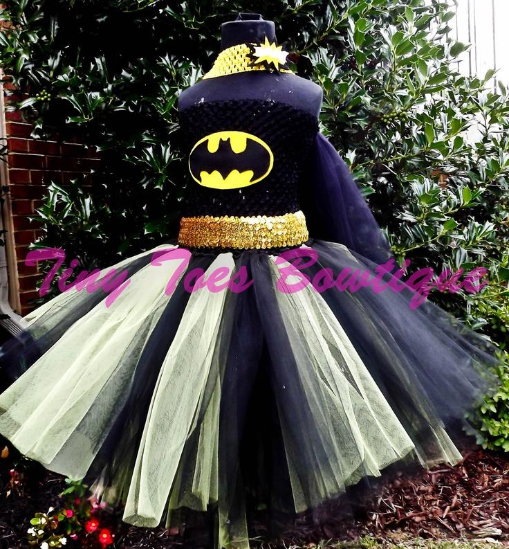 Baby Batgirl Inspired Costume by roshalsaenz on Etsy, $40.00. For daddy's little girl!