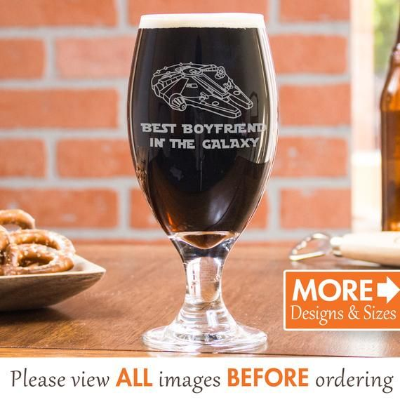 Cute Gift For Him, Customized Beer Glass Gift For Boyfriend, Belgian Beer Glass For , Custom Stout Beer Glass