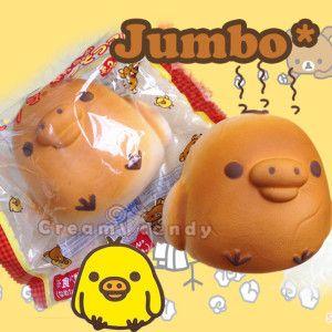 jumbo kiiroitori chick rilakkuma san -x rare squishy bun bread smells kawaii super cute shop online