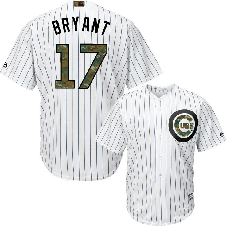 hot sale online 34f87 44d1b youth chicago cubs 17 kris bryant green salute to service ...
