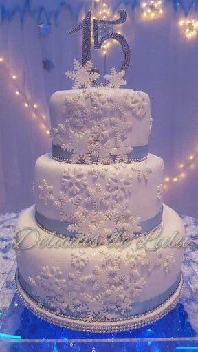 Frozen Quinceanera Cake