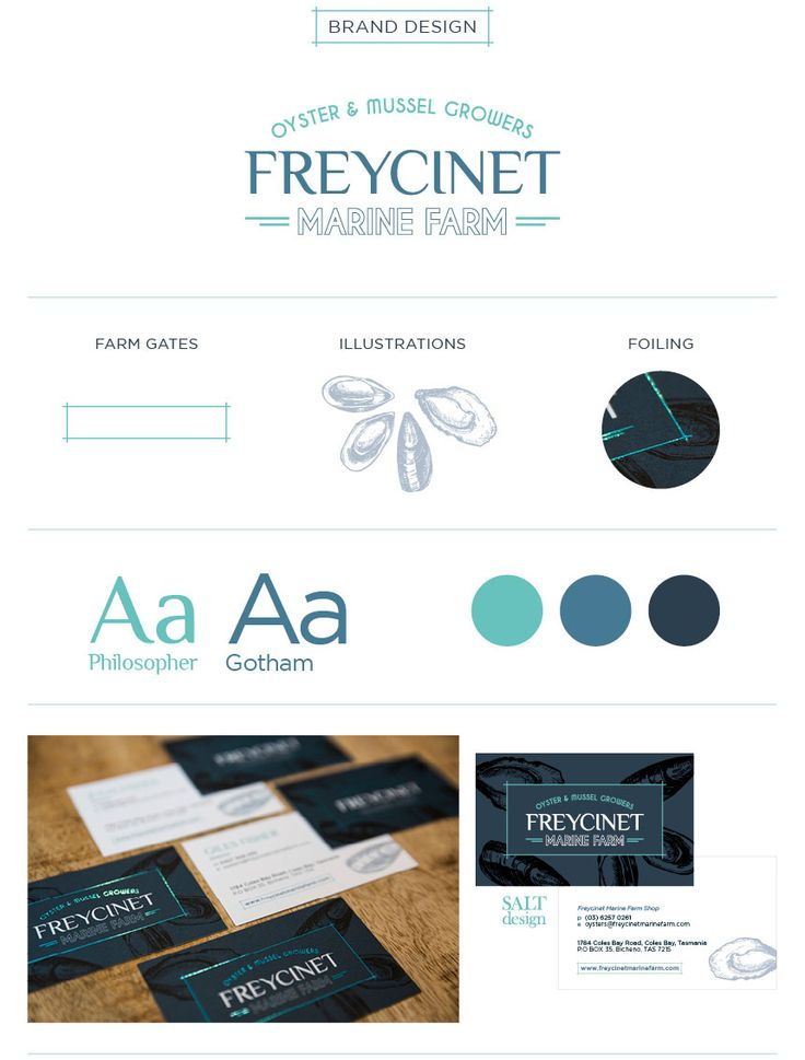 Salt Design // Freycinet Marine Farm Branding  #saltdesign #branding #design #logo #freycinet