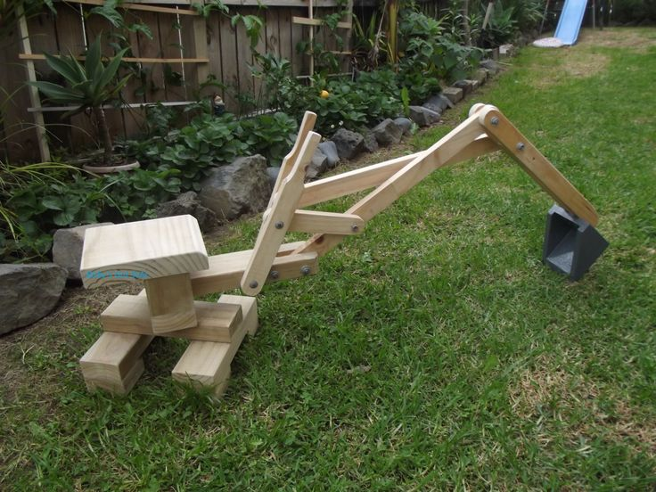 Wooden Sandpit Digger Woodworking And Toy