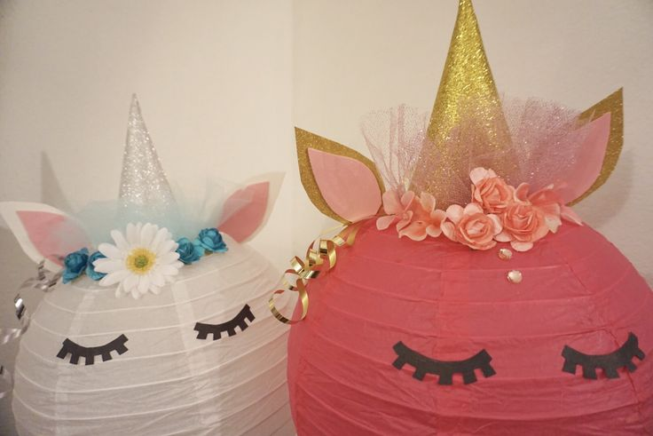 Unicorn lanterns Unicorn decorations DIY lanterns DIY ...