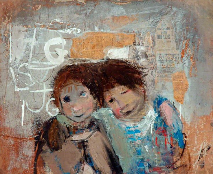 Children and Chalked Wall No.4 - Joan Eardley